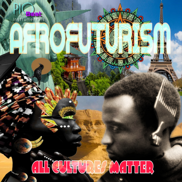 Afrofuturism Front LP Cover...Designed by Kwaku Wynn aka Cue Spinna